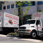 Thumbnail of New Trucks Parked in Front of Building