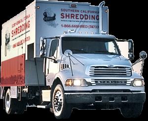 Close Up of Southern California Shredding Truck Copy