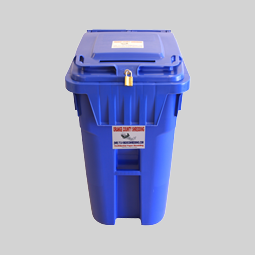 Blue 96 Gallon Security Container