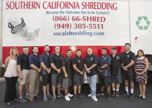 Team Photo in Front of Shredding Truck