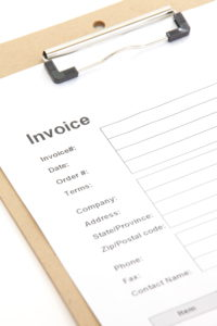 Invoice Document on a Clipboard