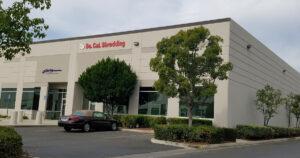 Outside of Southern California Shredding Office
